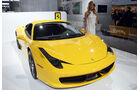 Detroit Motor Show 2011, Girls, Messe-Hostessen, Ferrari 458