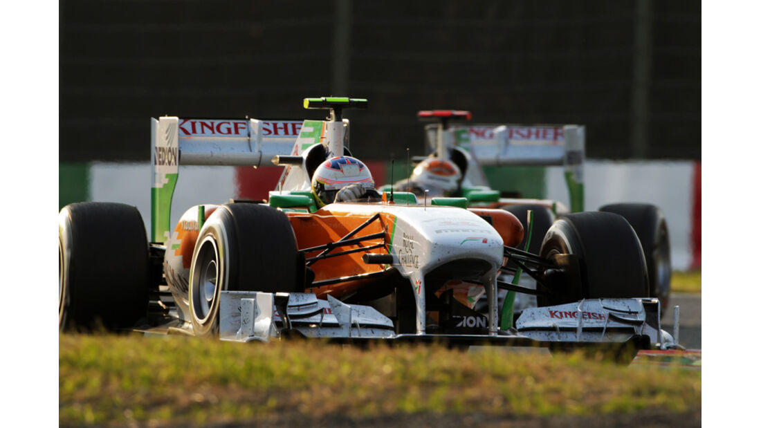 Di Resta Sutil Force India GP Japan 2011