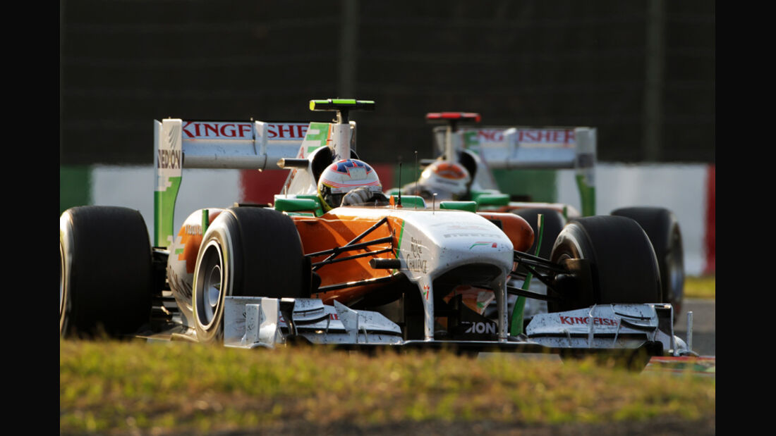 Di Resta Sutil Force India GP Japan 2011