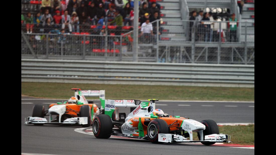 Di Resta & Sutil Force India GP Korea 2011