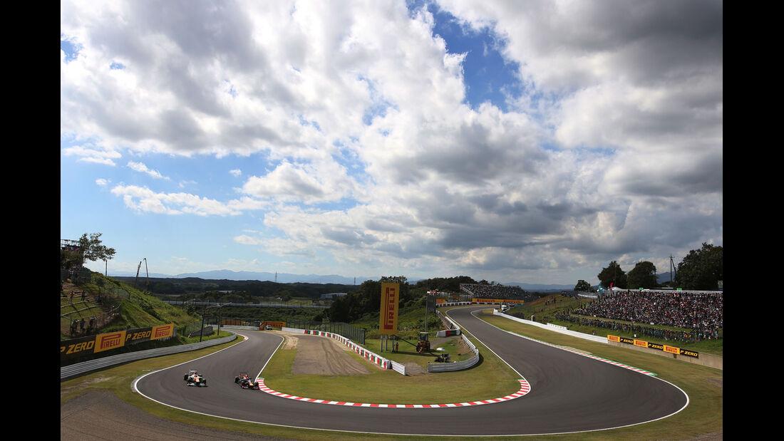 Di Resta & Vettel - Formel 1 - GP Japan 2013