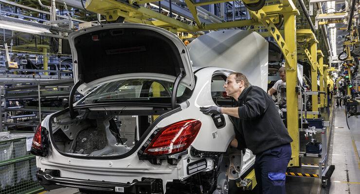 Die C-Klasse war im April das meistverkaufte Mercedes-Auto.