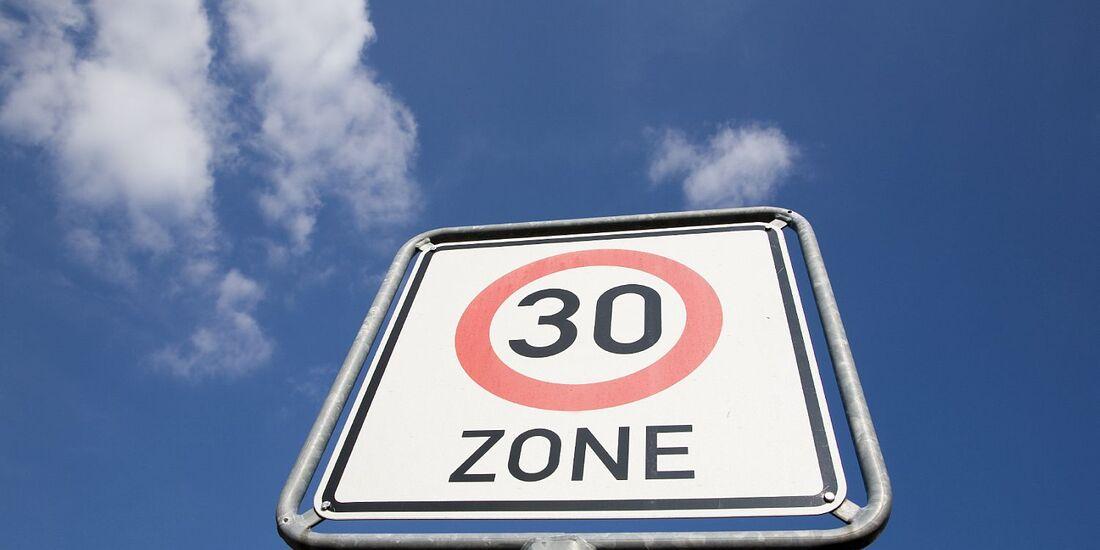 Die Tempo-30-Zone feiert 2013 ihr 30-jähriges Jubiläum.