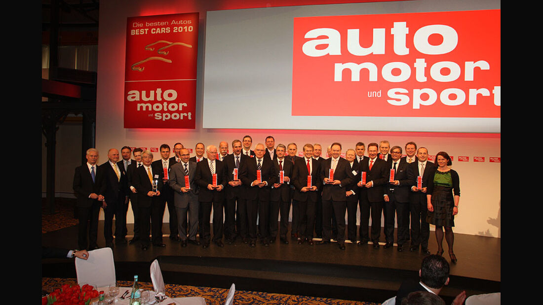 Die besten Autos 2010 - Preisverleihung