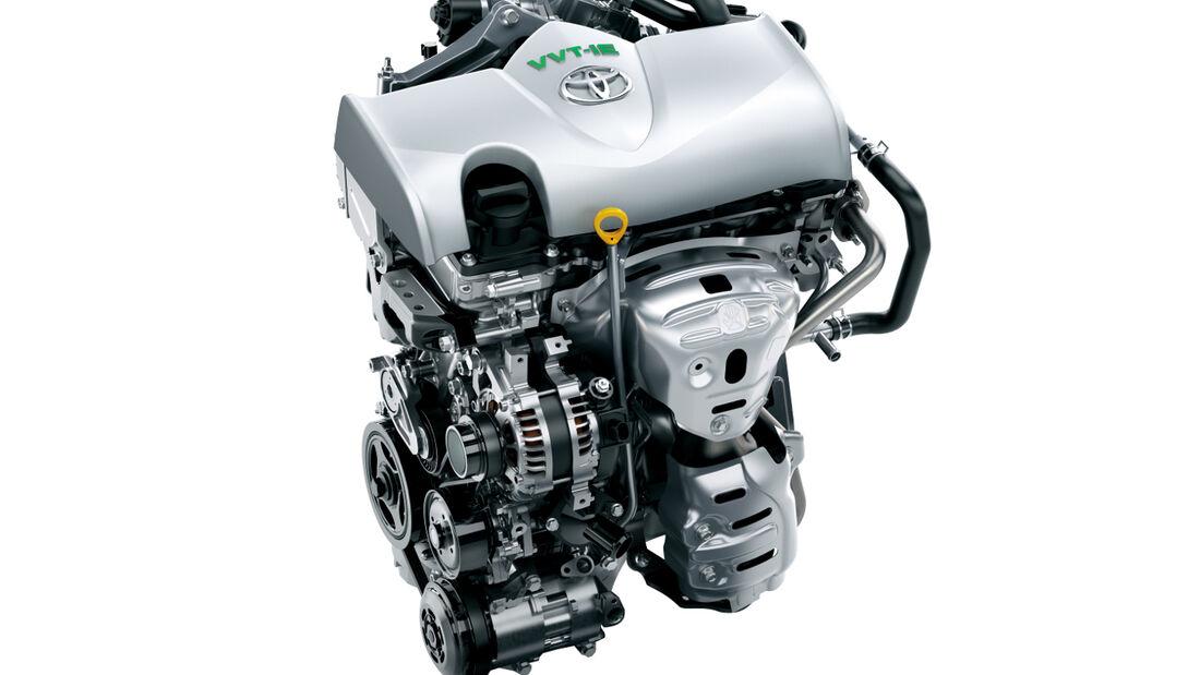 Die neuen Toyota-Benziner erreichen einen Wirklungsgrad von bis zu 38 Prozent.