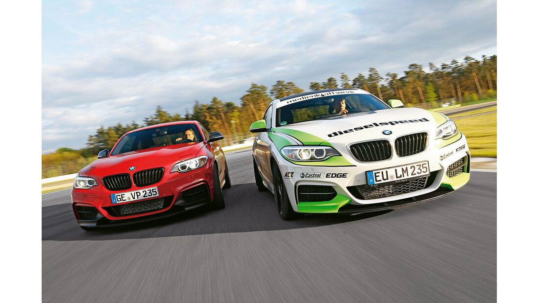 Dieselspeed-BMW M235i, Versus-BMW M235i, Frontansicht