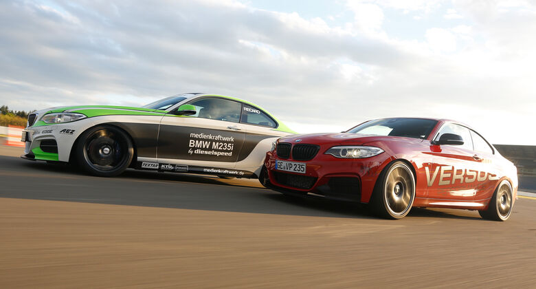 Dieselspeed-BMW M235i, Versus-BMW M235i, Seitenansicht
