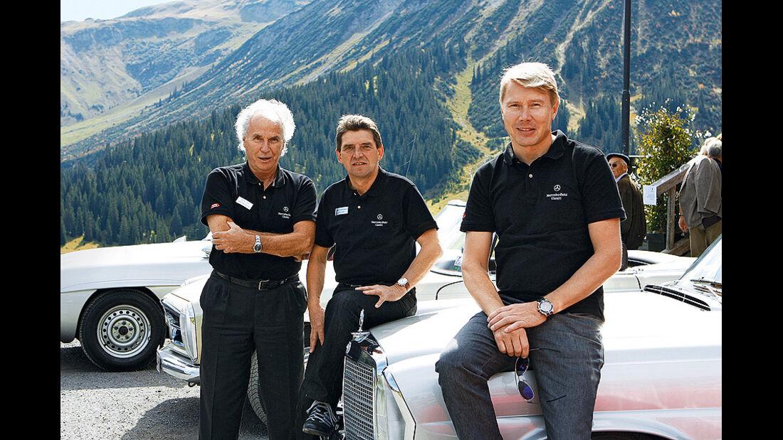 Dieter Glemser, Roland Asch und Mika Häkkinen