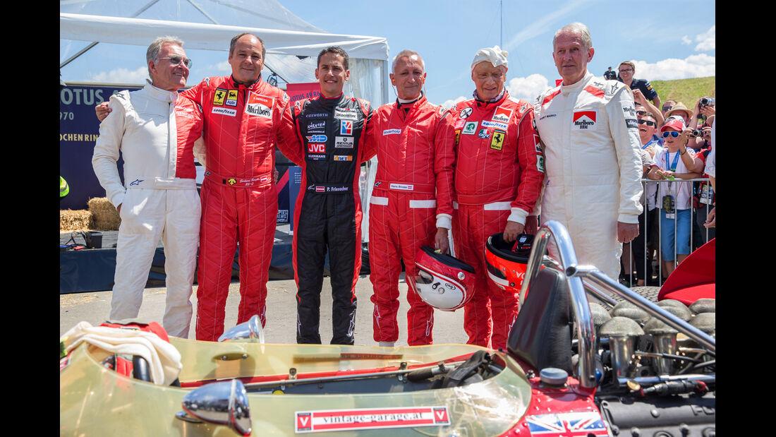 Dieter-Quester - Gerhard-Berger - Patrick-Friesache - Hans-Binder -Niki-Lauda - Helmut-Marko - GP-Legenden - GP Österreich 2014
