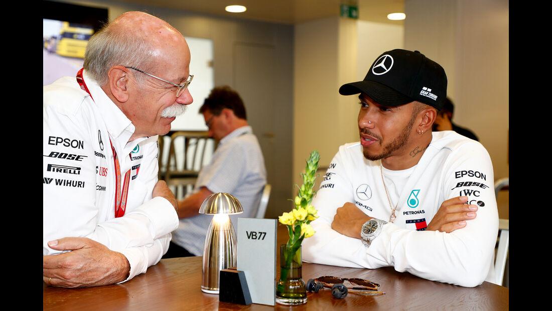 Dieter Zetsche & Lewis Hamilton - Mercedes - Formel 1 - GP Spanien - Barcelona - 12. Mai 2018