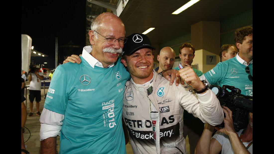 Dieter Zetsche & Nico Rosberg - GP Abu Dhabi 2015