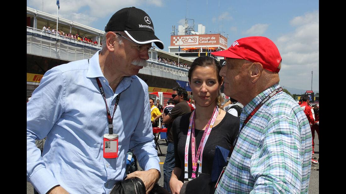 Dieter Zetsche & Niki Lauda - Formel 1 - GP Spanien 2013