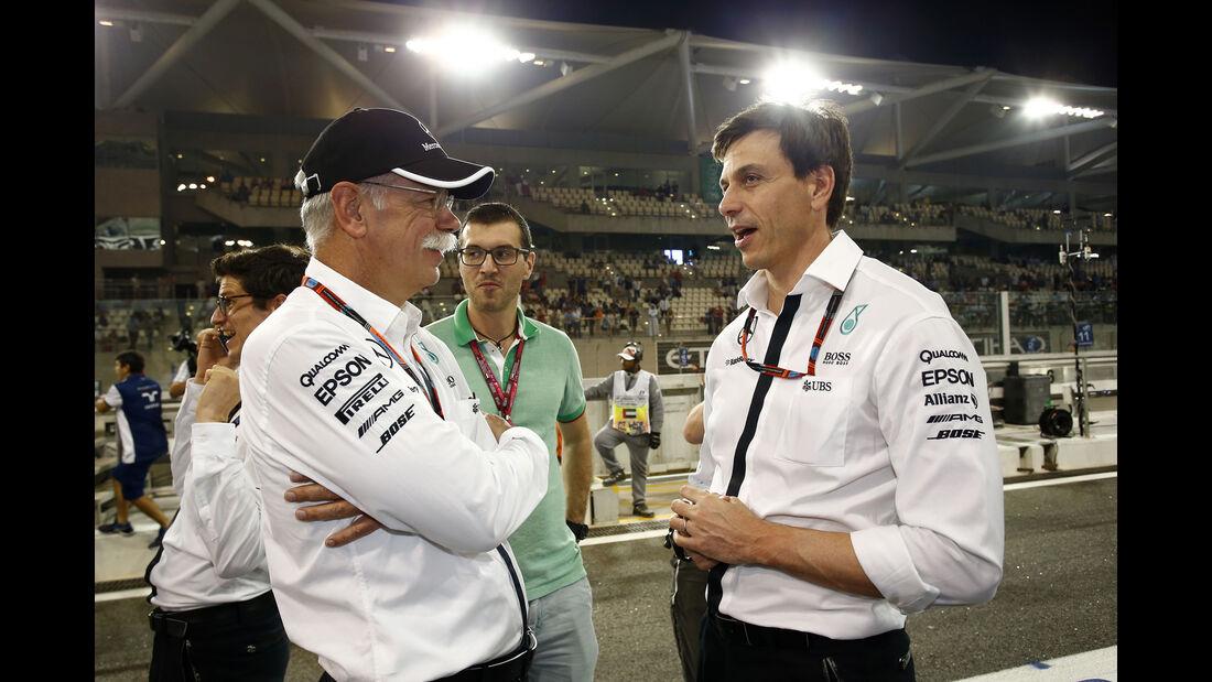 Dieter Zetsche & Toto Wolff - GP Abu Dhabi - 28. November 2015