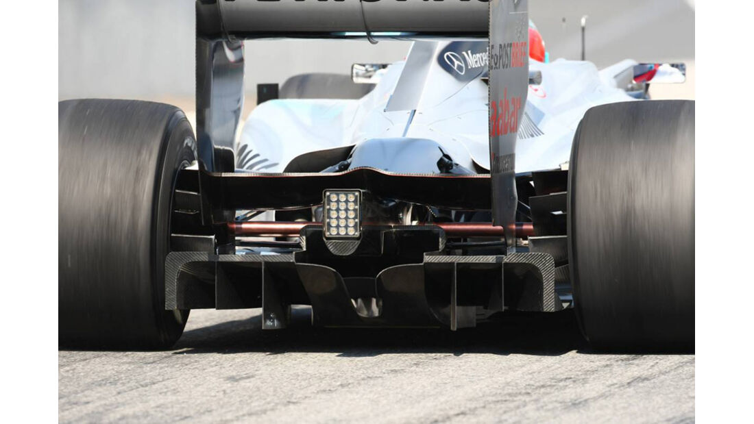 Difusor Mercedes GP