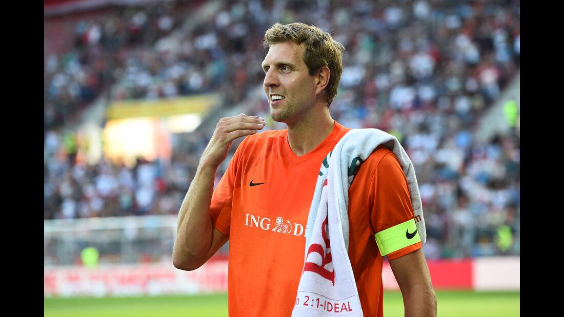 Dirk Nowitzki - Schumacher Benefiz-Fußball-Spiel - Mainz - 27. Juli 2016