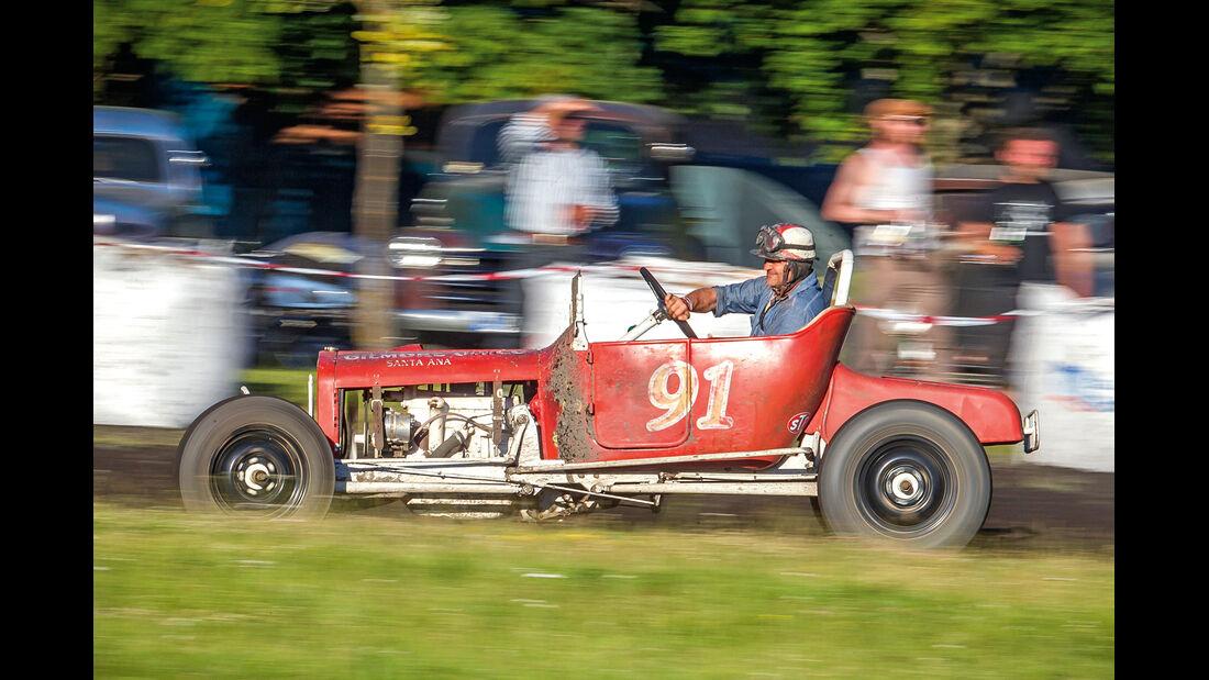 Dirt-Track-Szene, Ford Model T, Rennszene
