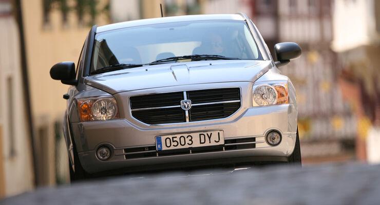 Dodge Caliber, Frontansicht, Kühlergrill