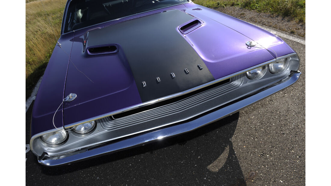 Dodge Challenger R/T 383, Baujahr 1970, Motorhaube