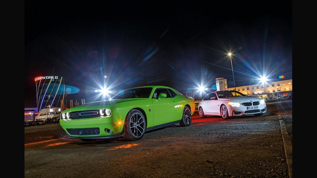 Dodge Challenger R/T, BMW M4 Coupé, Frontansicht