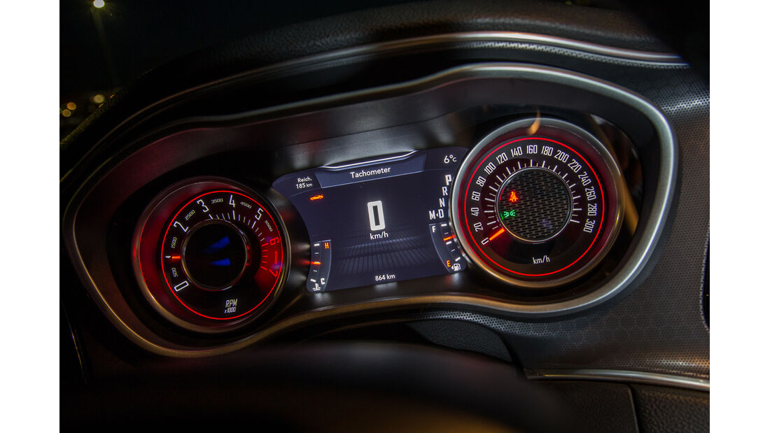 Dodge Challenger R/T, Rundinstrumente