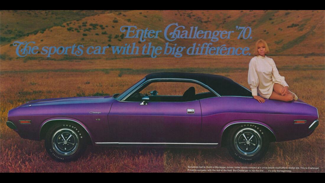 Dodge Challenger, Werbung, Plakat