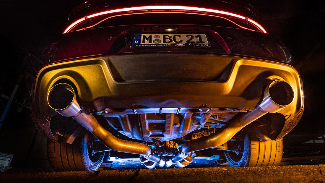 Dodge Charger SRT Hellcat Widebody, Abgasanlage