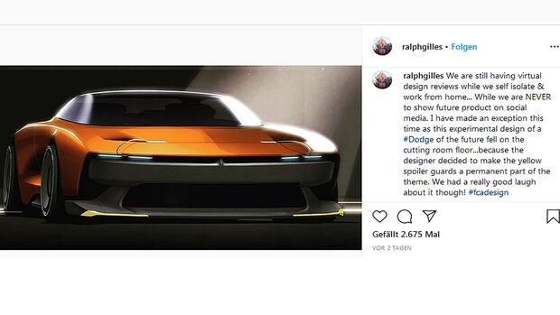 Dodge Designzeichnung gelbe Splitter