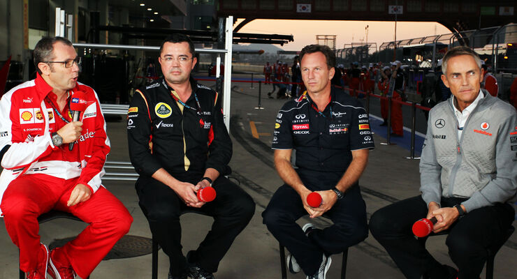 Domenicali, Boullier, Whitmarsh & Horner - GP Korea 2013