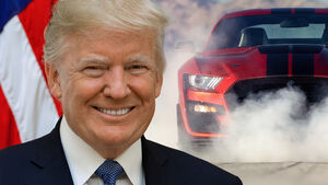 Donald Trump USA US Präsident Ford Mustang