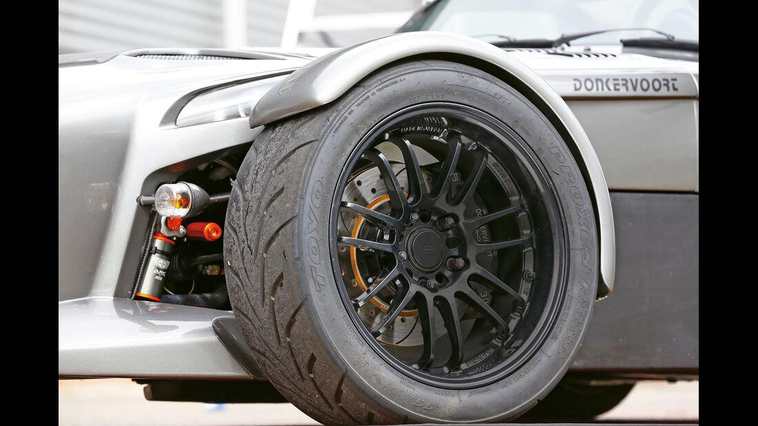 Donkervoort D8 GTO Performance, Rad, Felge, Bremse