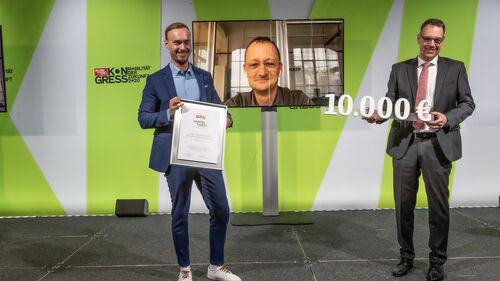 Dr. Jörg Rheinländer und Andreas Karanas Mobility & Safety Award.