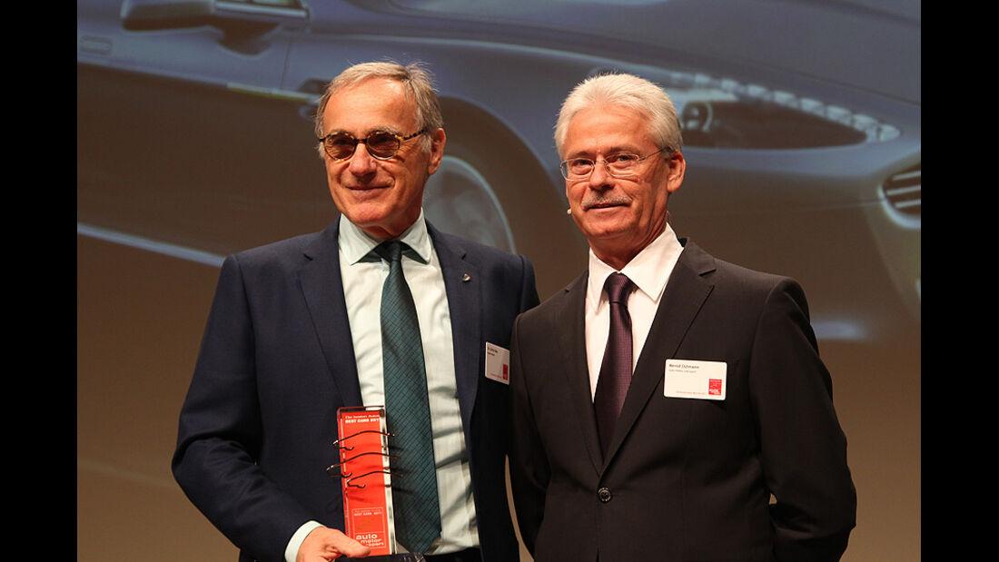 Dr. Ulrich Bez, Aston Martin-Chef (li.)