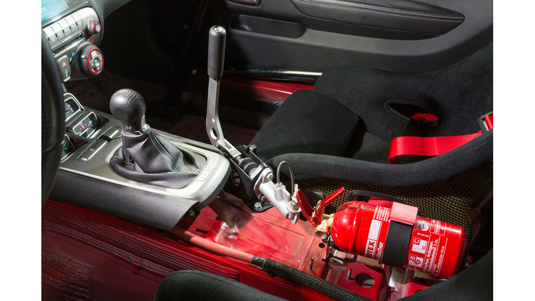 Drift-Autos, Irmscher, Chevrolet Camaro SS, Schalthebel