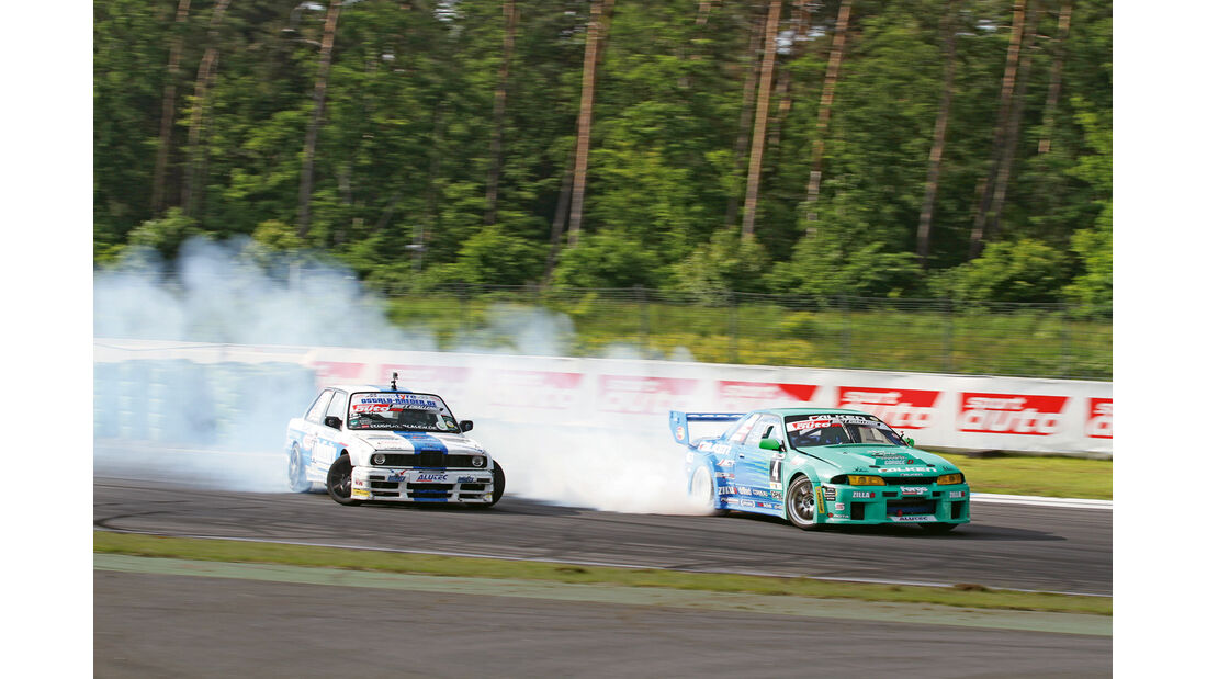 Drift Challenge 2013, BMW E30 M5, Nissan Skyline R32