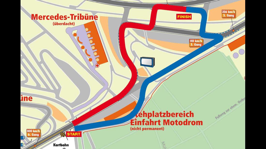 Drift Challenge 2013, Strecke