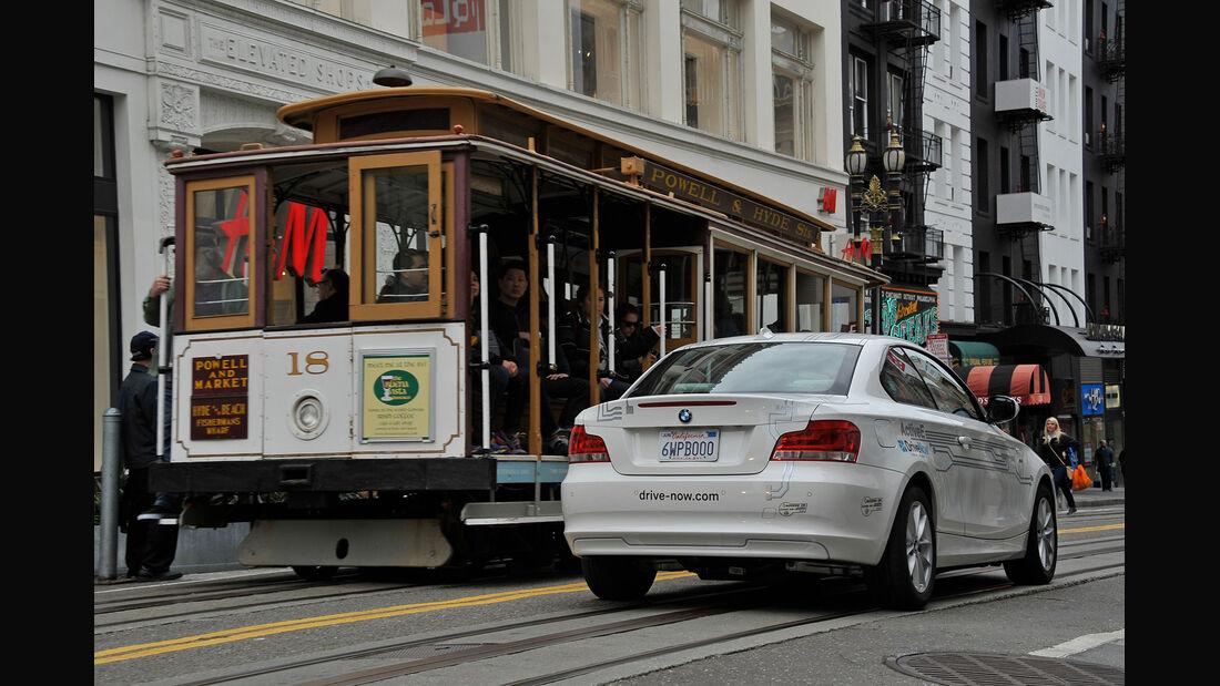 DriveNow, San Francisco, Impression, E-BMW