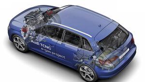 Dual-Mode-Hybrid-Technologie, A1 E-Tron, Draufsicht