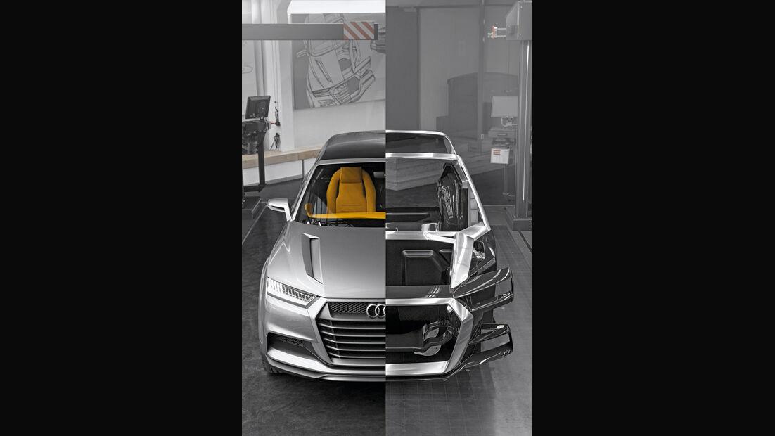 Dual-Mode-Hybrid-Technologie, Audi A1, Frontansicht