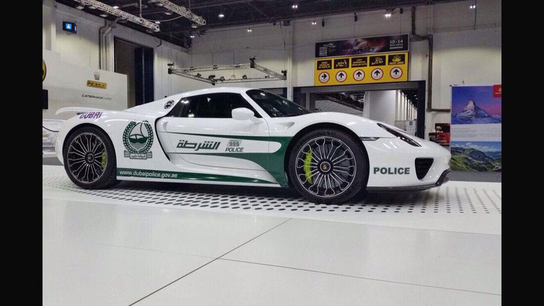Dubai Police Car - Polizeiautos - Porsche 918 Spyder