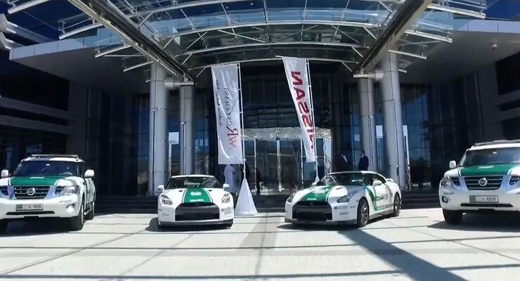 Dubai Police Cars - Nissan GT-R - Nissan Patrol