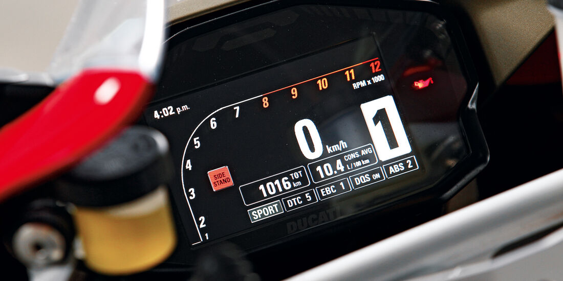 Ducati 1199 Panigale S, TFT-Display, Tacho