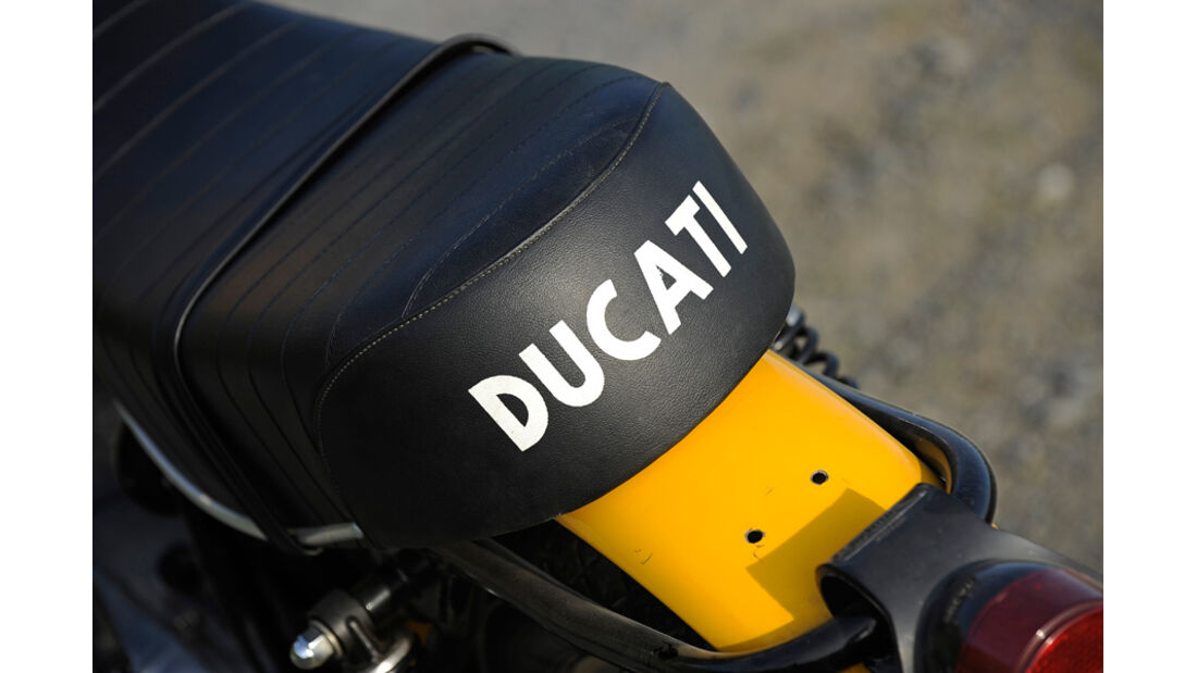 Ducati 350 Scrambler, Detail, Sitz