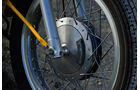Ducati 350 Scrambler, Detail, Vorderrad, Speiche