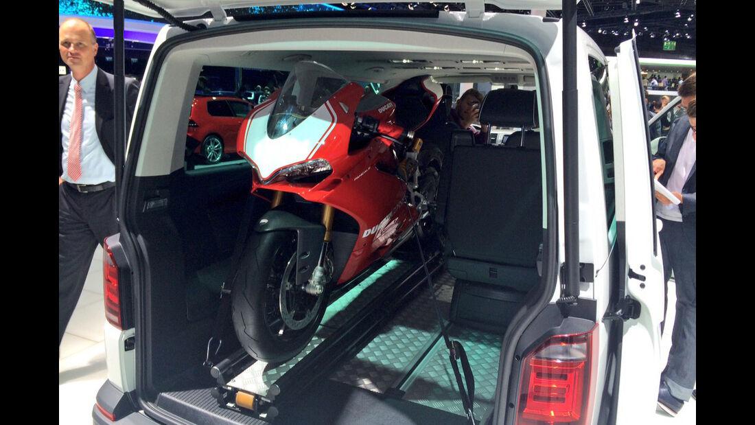 Ducati im T6 Kofferraum