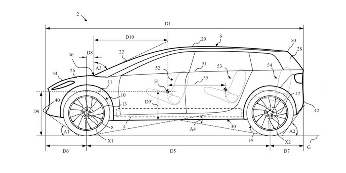 Dyson Auto Patentzeichnung