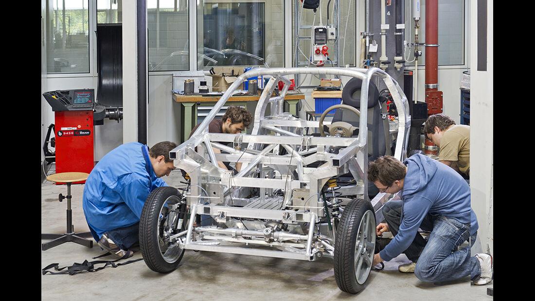 E-Auto Mute der TU München, Aufbau Fahrzeug
