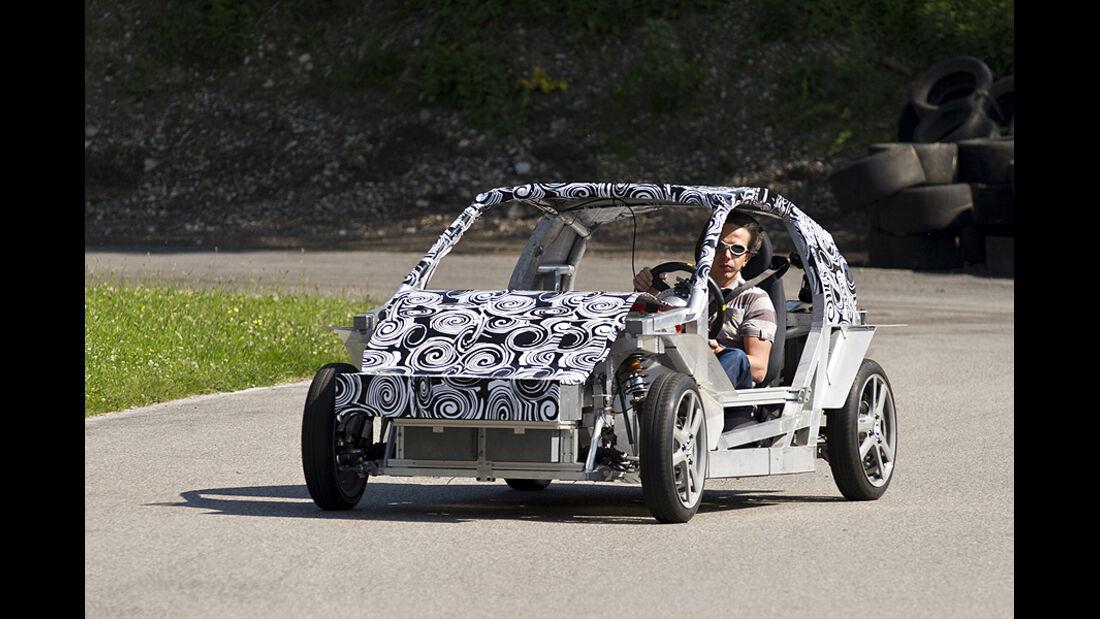 E-Auto Mute der TU München, Testfahrt