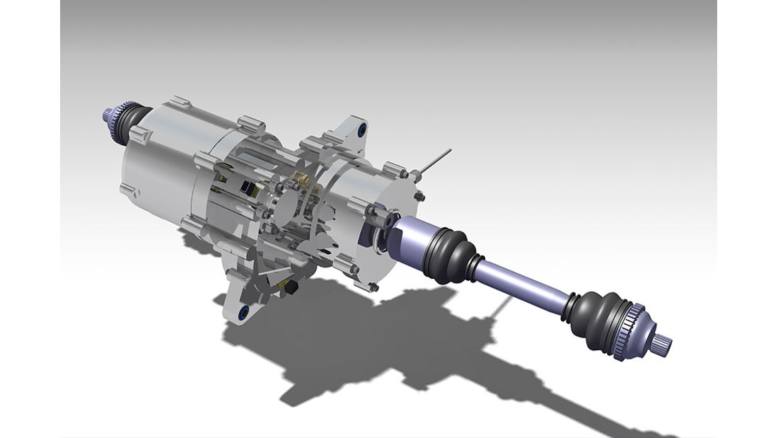 E-Auto Mute der TU München, Torque vectoring-Differenzial