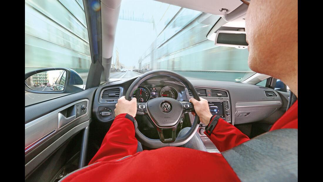 E-Golf, Cockpit, Fahrersicht