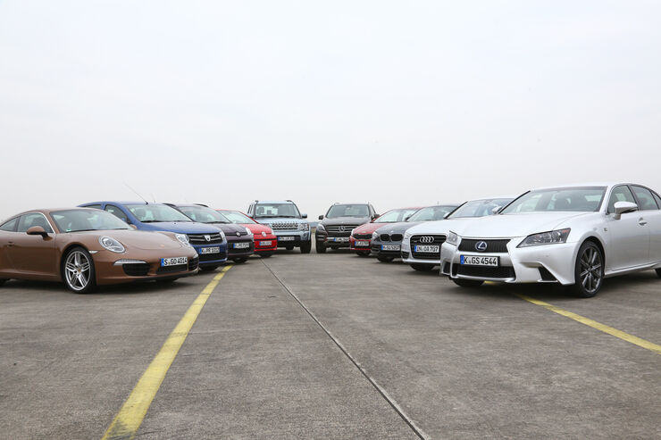 ESP, Test, alle Fahrzeuge